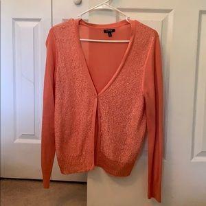 Coral Cardigan Sweater
